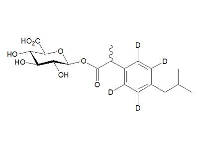 (R,S)-布洛芬-d4酰基-β-D-葡糖醛酸,d4:d3 85:15