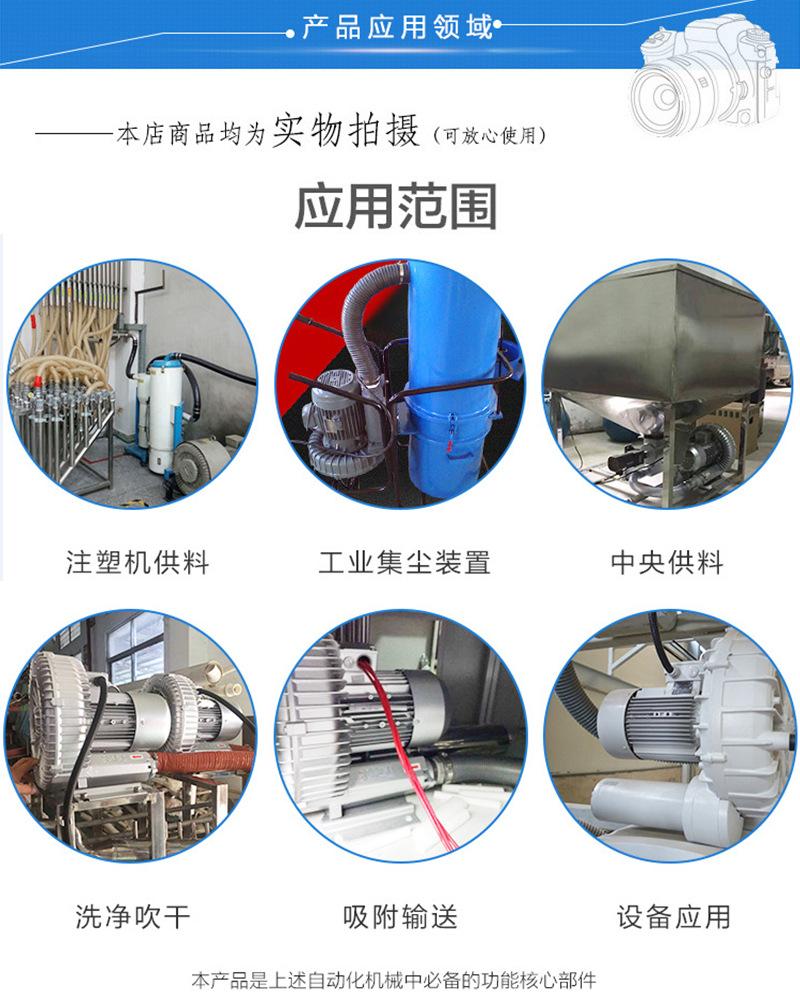 自动上料机设备风机/高压风机/高压鼓风机/RH-830-1旋涡风机,纽瑞旋涡气泵示例图6