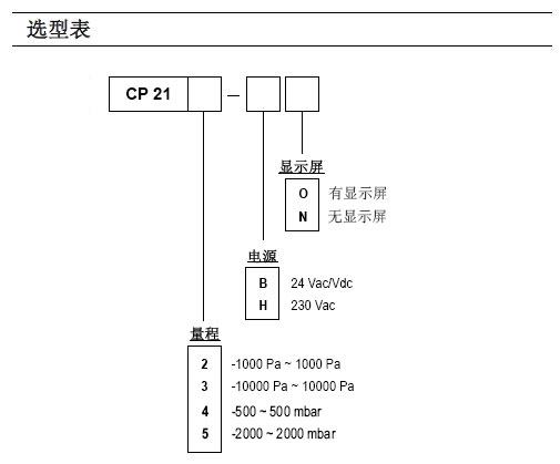 CP210系列高精度微差压变送器
