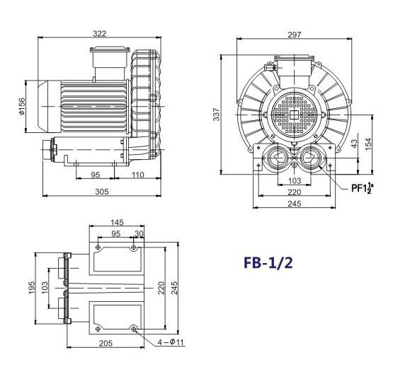 漩涡防爆气泵|漩涡防爆真空泵|旋涡防爆负压气泵 防爆风机 高压防爆示例图4
