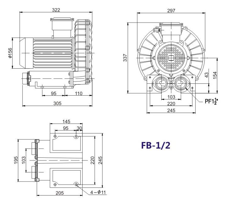 嘉兴变频防爆旋涡风机 FB-15变频防爆旋涡风机 厂家防爆风机示例图12