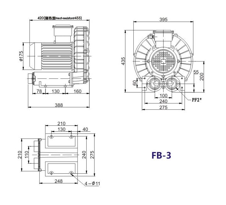 嘉兴变频防爆旋涡风机 FB-15变频防爆旋涡风机 厂家防爆风机示例图15