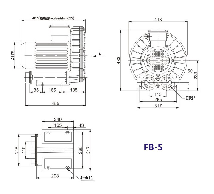 嘉兴变频防爆旋涡风机 FB-15变频防爆旋涡风机 厂家防爆风机示例图16