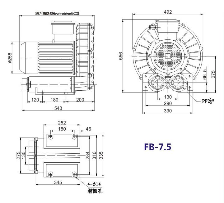 嘉兴变频防爆旋涡风机 FB-15变频防爆旋涡风机 厂家防爆风机示例图17